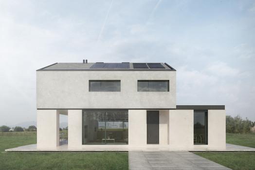 Una casa sostenibile che unisce all'architettura un'altissima efficienza energetica